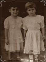 Stefy and Beth - old photo by bettina-coman