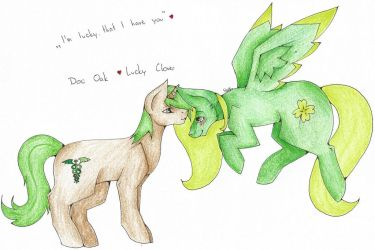 Doc Oak and Lucky Clover (gift) :3 by WeraHatake