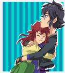 Marissonshipping - Mairin loves hugs Re-Draw by Nathy-Marisson