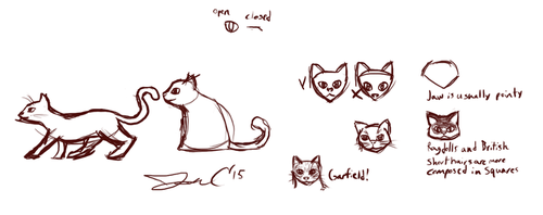 11th June 2015 - Jon Draws Cats by JonCausith