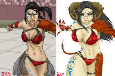 Attacking Ayashe Comparison 2010 - 2013 by Nenalaen