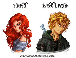 Clary and Jace by FireLordWael