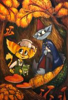 Sly and Ratchet (Over the garden wall) by Stasia28fox