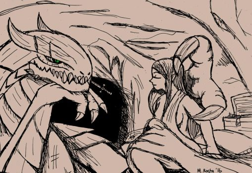 Beauty and Beast: Draconic by Rochasaurus