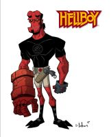 hellboy design by HEROBOY