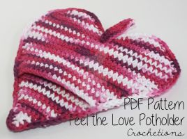 Feel the Love Pot Holder - Crochet Pattern