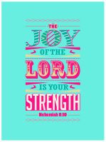Nehemiah 8:10 - Poster by mostpato