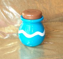 Wind Waker Item Pot Bank Ceramic Custom made by TorresDesigns