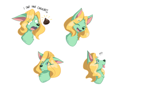 {Commission} Emotes for Blonde Scent by Akemiarts1