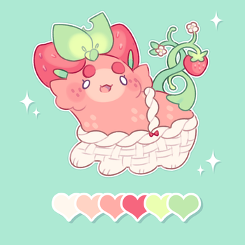 custom pacapillar: strawberry basket! by blushbun