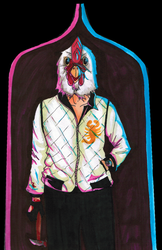 The Driver in Hotline Miami by danirat