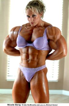 Female muscle 15 by BigDane
