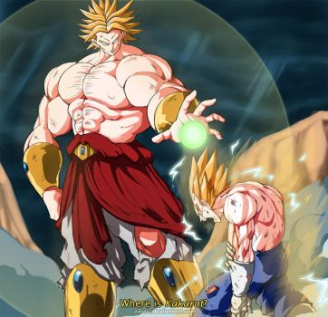 Movie 10 Broly vs SSJ2 Vegeta by edstir