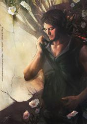 Daryl Dixon n Cheeroke Roses by Brilcrist
