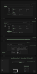 Natter Dark Green Theme Win10 April 2018 Update by Cleodesktop