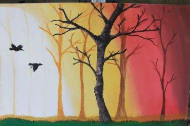 sunset painting by kahlil-ARTist