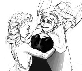 0145 - Elsa on Anna (SKETCH) by PolarBearNSFW