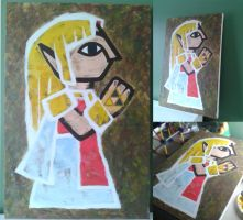 Zelda's Painting | A Link Between Worlds by PixelCollie