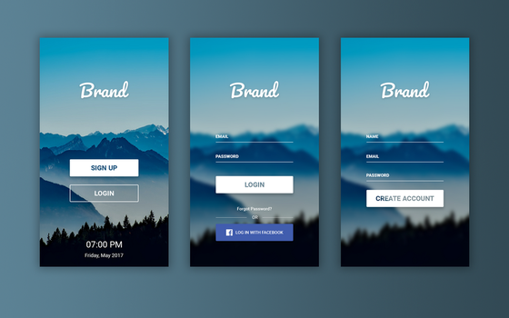 Mobile Apps Login Screen by andikamelodiest