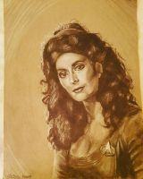 Deanna Troi Drawing by reptileprincess