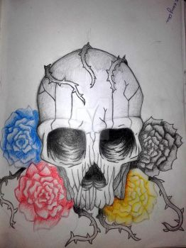 skull and rosses by Gadzinka98