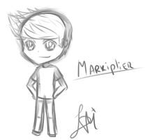 Quick chibi sketch of markiplier by Lvi-Tan