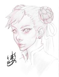 Chun Li Sketch by arcais
