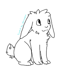 Lop eared rabbit lineart by Storm-adopts-13