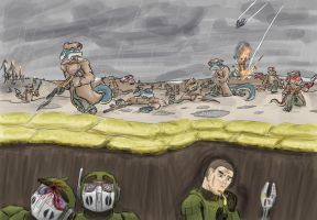 Trench warfare by Morgoth883