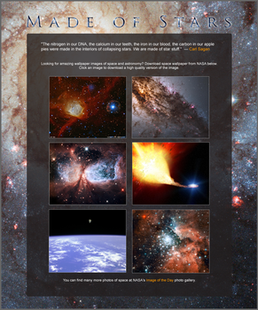 Space Wallpaper Gallery Website Design by rlcamp