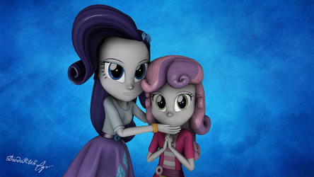 Rarity and Sweetie Belle by Diod0RUS