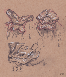 Kaiju Sketches - Pacific Rim by Girl-on-the-Moon