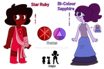 Bi-Colour Sapphire + Star Ruby Reference by DualJewels