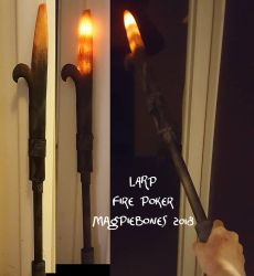 LARP Fire Poker by Magpieb0nes