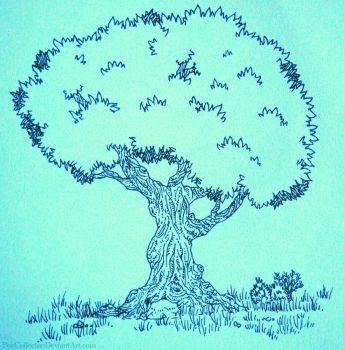 Tree sketch by PoeCollector