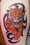 Tiger with Tribal by Mr-Taboo