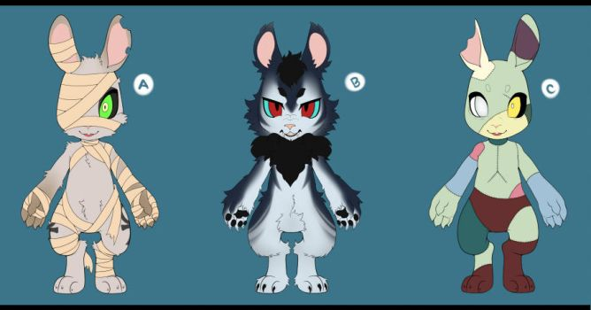 [PRICE REDUCED] Monster Bun Adopts OPEN [3/3] by Wan-Nya