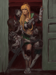High school Of The Dead Photo Study by Mandilor