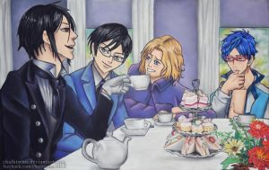 Commission: Tea Party by ChalkTwins
