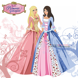 Barbie as the Princess and the Pauper by tomatocrime