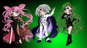 Wicked Lady,Prince Demand,Emerald by lcwpaintme3