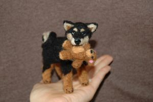Needle felted Shiba Inu by amber-rose-creations