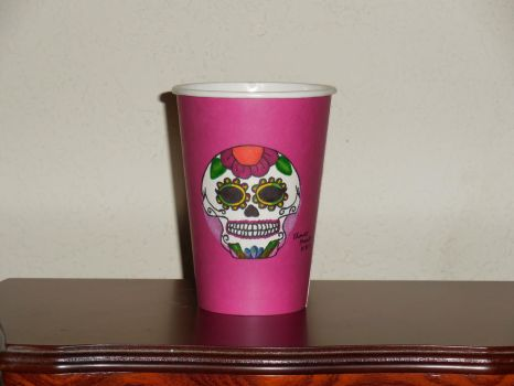 Starbucks Fall Cup: Day of the Dead by FlowerPhantom