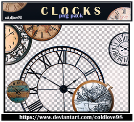 Clocks Png's Pack | ColdLove98 by ColdLove98