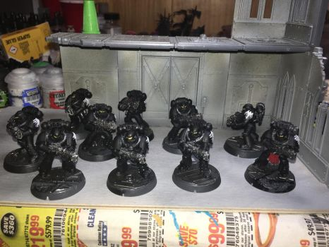 Raven Guard Tactical Support squad by Strumwulf