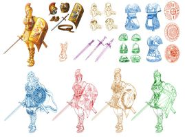 Armour of God concept sketches by glitcher