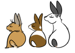 Bunny Butts by ThirdPotato