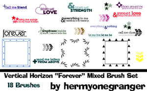Lyric Brush set 2 by hermyonegranger