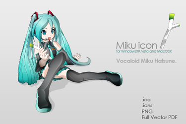 Miku icon. by idolls