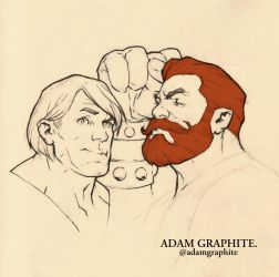 He Man and Fisto by AdamGraphite